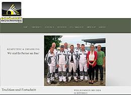 Internetauftritt der Firma Schönheit-Bausanierung in Nöda bei Erfurt, Raumfrei Webdesign Erfurt Thüringen