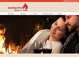 Website des KaminHaus Erfurt auf Basis eines Shopsystems, Webdesign Erfurt by Raumfrei.de