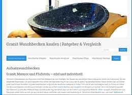 Webseite zum Thema Aufsatzwaschbecken aus Stein, Ratgeber und Monage-Tipps, Raumfrei Webdesign Erfurt Thüringen