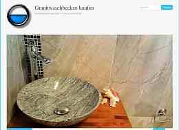 Aufsatzwaschbecken aus Naturstein, Granit, Marmor, Flussstein und Glas, Raumfrei Webdesign Erfurt Thüringen