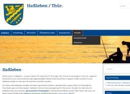 Offizielle Webseite des Ortes Haßleben in Thüringen, Webdesign Erfurt Raumfrei.de