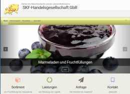 Internetpräsenz eines Handelsunternehmens, Raumfrei Webdesign Erfurt Thüringen